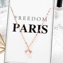Nouveau collier simple coren avec jupe en diamant NHOP264143