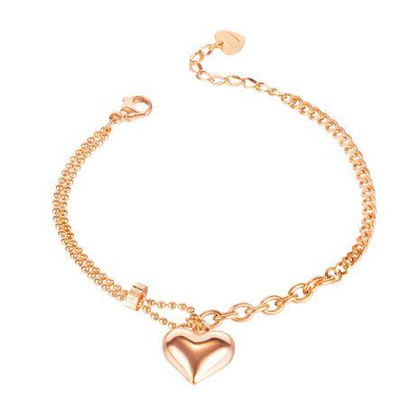 vente chaude nouveau bracelet en acier titane d'amour de perle ronde pour les femmes bijoux en gros NHOP264164's discount tags