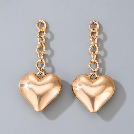 Pendientes pequeños de aleación en forma de corazón de amor de viento de metal simple de moda vendedora caliente NHGY264599's discount tags