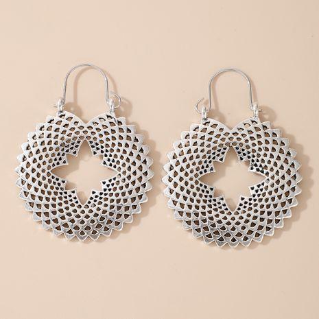 Pendientes de forma geométrica hueca de loto de aleación retro simple de moda NHGY264595's discount tags