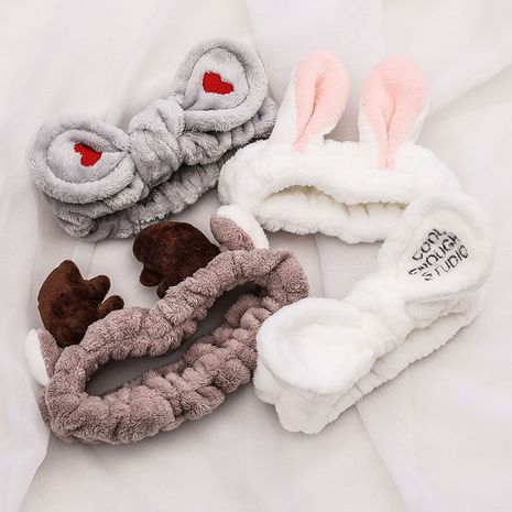 Korean hairband rabbit ears antlers cat ears headband hairband plush bow headband NHCQ264030's discount tags