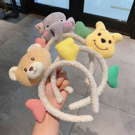 Korea new funny hair band wash face tied hair bundle cute hair accessories NHCQ263534's discount tags