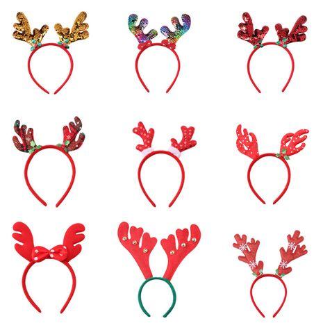 Noël Santa Claus bonhomme de neige bois enfants décorations de fête de Noël accessoires pour cheveux NHNA263779's discount tags