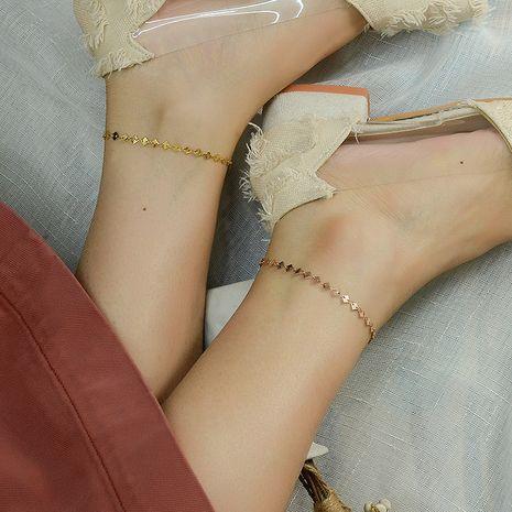 Ensemble de bijoux de cheville de bracelet en acier titane sauvage de morceau de diamant géométrique rétro de mode NHOK263907's discount tags