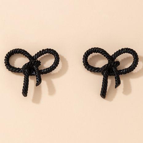 Boucles d'oreilles à nœud noir pour femmes NHGY264587's discount tags