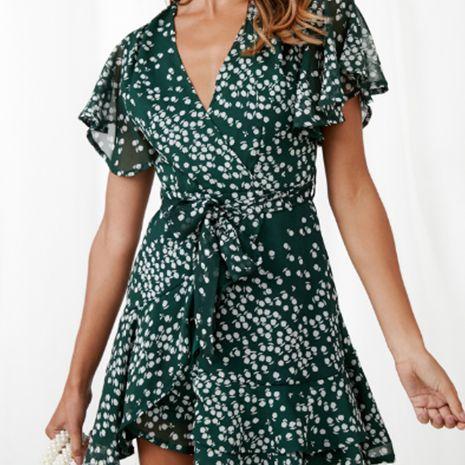 Robe courte d'été sexy à col en V et à la mode pour femmes NHEK264539's discount tags
