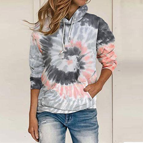 Sweat-shirt à manches longues à capuche et imprimé ample NHJC264500's discount tags