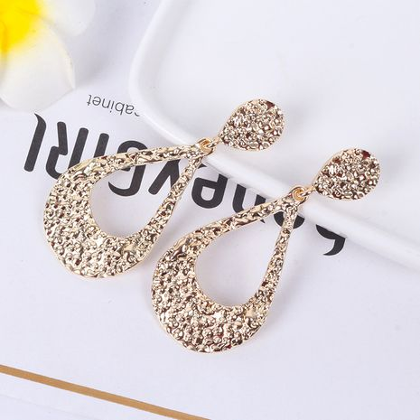 Fashion exaggerated metal exaggerated fashionable long simple retro earrings NHAI252490's discount tags