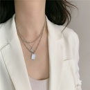 Retro Threelayer Portrait Fritillary Necklace Multilayer Chain Clavicle Chain NHYQ252503
