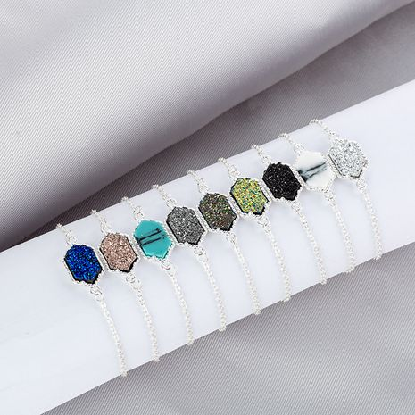 Hot-Selling Diamond Cluster Multicolor Christmas Natural Stone alloy Bracelet  NHAN252576's discount tags