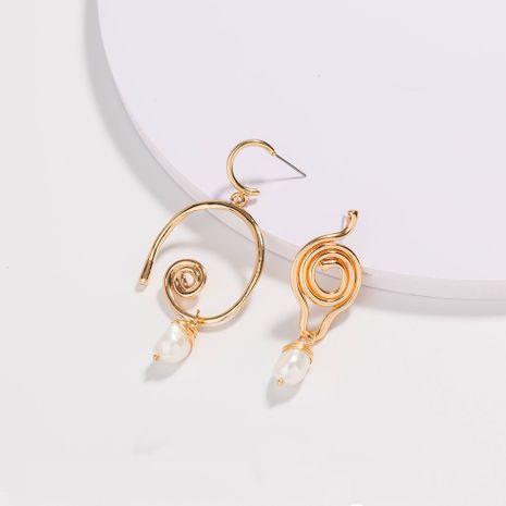 boucles d'oreilles géométriques de mode boucles d'oreilles pendantes en perles d'eau douce naturelles en gros NHAN252585's discount tags