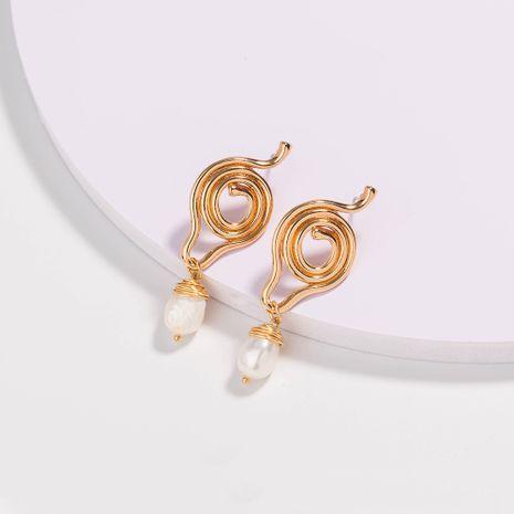 boucles d'oreilles créatives en perles d'eau douce naturelles de forme irrégulière NHAN252586's discount tags