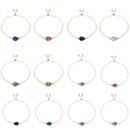 Fashion dropshaped crystal cluster natural stone resin Christmas love  bracelet NHAN252587