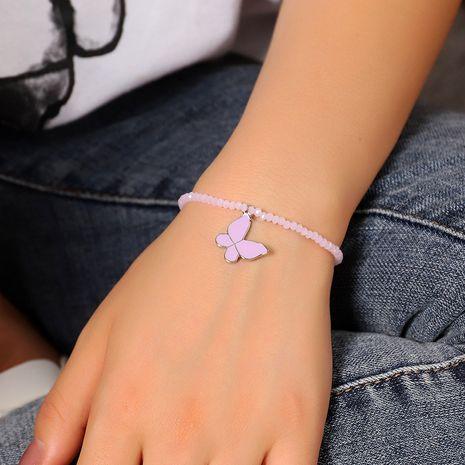 nouveau bracelet pendentif en alliage perlé fait main papillon violet pour les femmes NHNZ252617's discount tags