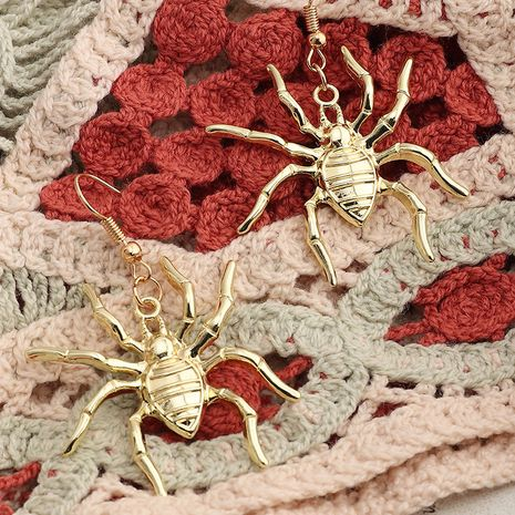 holiday jewelry cartoon Halloween animal metal spider earrings wholesale NHNZ252622's discount tags