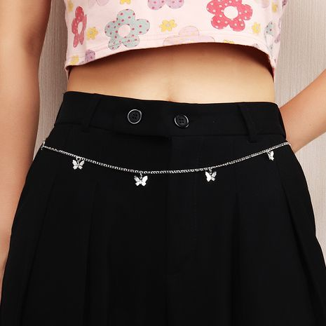 butterfly  personality alloy butterfly pendant waist chain NHNZ252624's discount tags