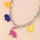 cute fun resin dinosaur pendant  silver chain womens necklace NHNZ252625
