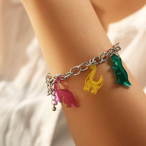 nouveau bracelet de dinosaure en résine simple chaîne en argent pour femmes vente en gros NHNZ252633's discount tags