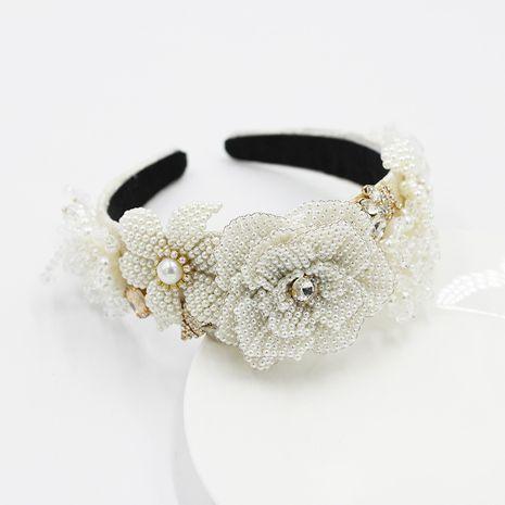 Nouveau bandeau de dames de fleur de cristal de mode NHWJ252652's discount tags