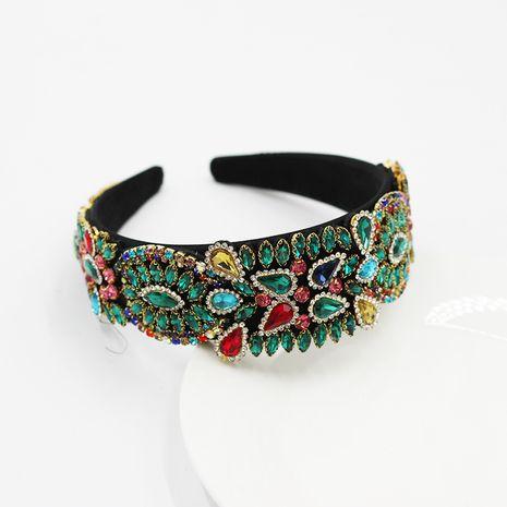 New Baroque style geometric full diamond prom broad-sided headband  NHWJ252654's discount tags