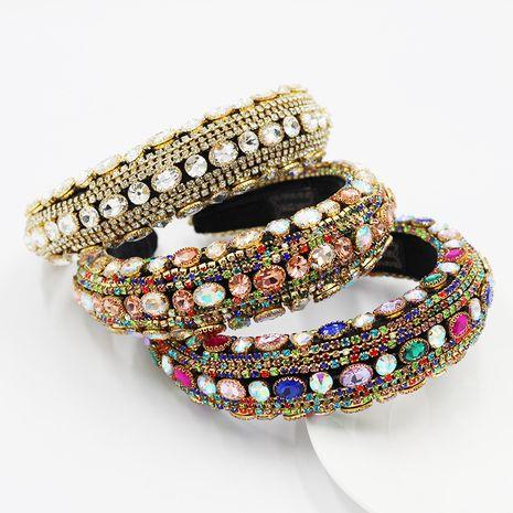 Diadema Nuevo Barroco lleno de diamantes con piedras preciosas NHWJ252657's discount tags