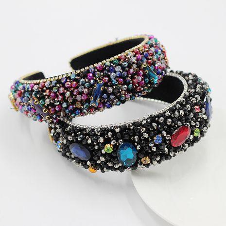 New Baroque Crystal Stone Diamond Sponge Exaggerated headband  NHWJ252659's discount tags