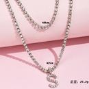 fashion new letter full diamond pendant womens necklace  NHAJ252661