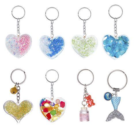 neue Acryl Schlüsselbund Geschenkideen niedlichen Meerjungfrau Schwanz Liebe Bär Form Tasche Ornamente NHAP252672's discount tags
