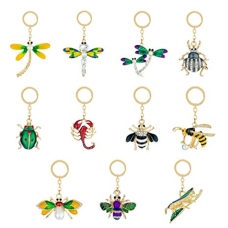 nouveau diamant alliage porte-clés pendentif mignon animal insecte forme pendentif sac accessoire pendentif NHAP252673's discount tags