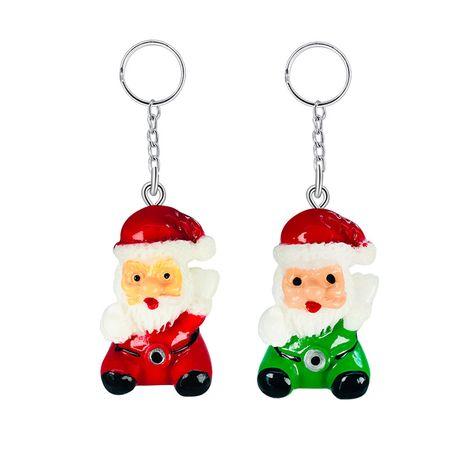 Pendentif de personnage en résine créative mignon mini porte-clés Santa en gros NHAP252676's discount tags