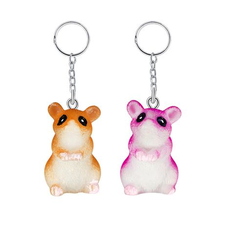 Creative resin animal pendant cute mini hedgehog owl squirrel key ring  wholesale NHAP252677's discount tags