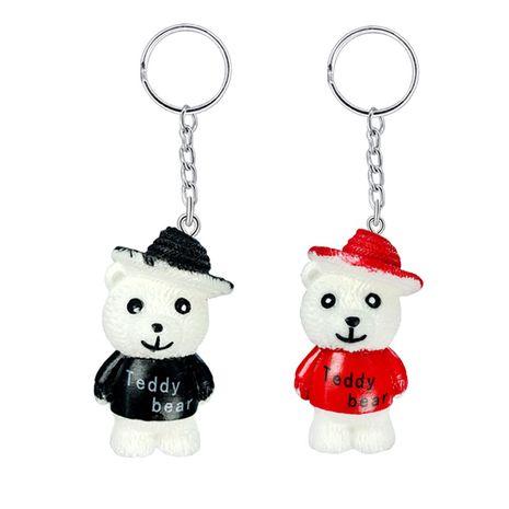 Creative bricolage résine porte-clés pendentif mignon dessin animé mini ours animal porte-clés en gros NHAP252679's discount tags