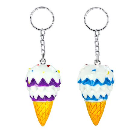 DIY color resin pendant cute mini ice cream cone keychain pendant wholesale NHAP252680's discount tags