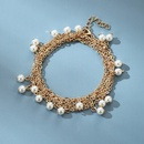 new fashion simple hollow versatile multilayer pearl alloy pendant bracelet for women NHGY252686