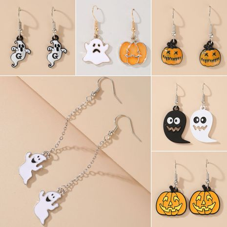 new Halloween funny pumpkin ghosts exaggerated acrylic earrings wholesale NHGY252693's discount tags