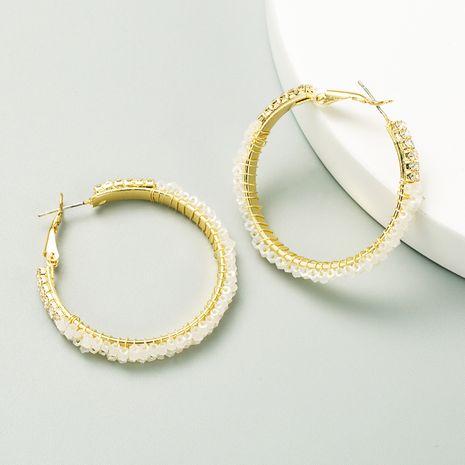 Korea circle hollow 925 silver needle earrings wholesale NHLN252730's discount tags