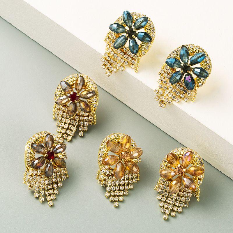 new Korean womens long S925 silver needle earrings wholesale NHLN252736