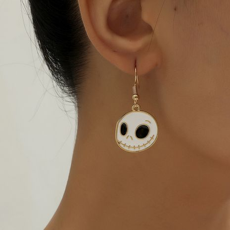 Korea fashion simple trend Halloween funny retro dripping oil thriller alloy earrings NHKQ252742's discount tags