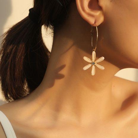 mode simple mode coréenne nouvelles boucles d'oreilles fleur en gros NHKQ252744's discount tags