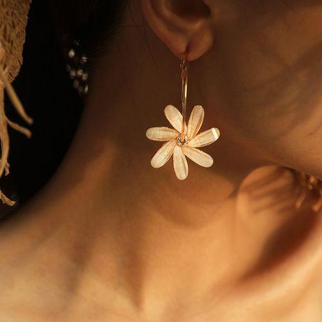 Fée de la mode coréenne sauvage simple tendance cercle diamant boucles d'oreilles fleur moulin à vent NHKQ252746's discount tags