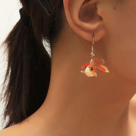 Corée de style ethnique niche créature amusante bonne chance koi acylic boucles d'oreilles poisson rouge NHKQ252749's discount tags