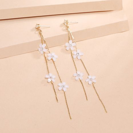 Fashion fairy long thin Korean new wild tassel flower acylic earrings for women NHKQ252750's discount tags