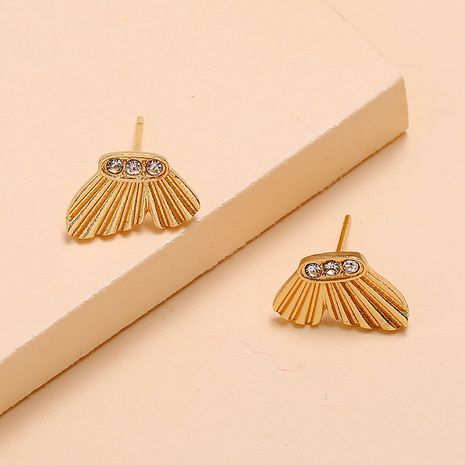 Korean fashion wild metal simple trend diamond butterfly alloy earrings NHKQ252751's discount tags