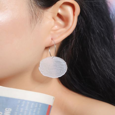 new Korean simple niche fashion trend transparent acrylic round earrings NHKQ252756's discount tags