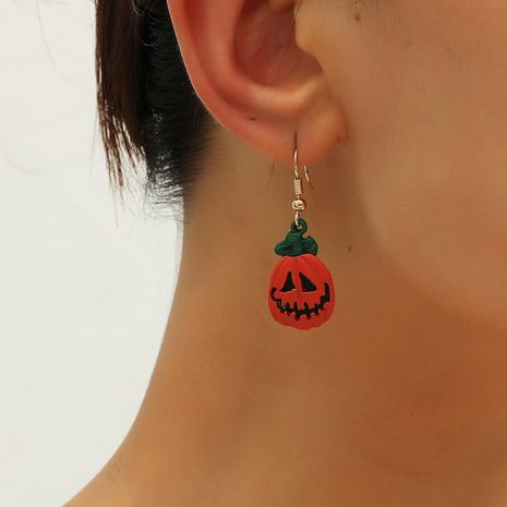 Fashion funny Halloween simple ghost pumpkin kitten 3-piece alloy earrings set NHKQ252758's discount tags