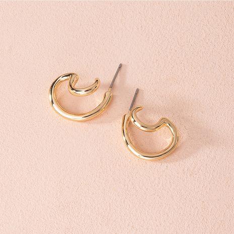 Corée nouvelles boucles d'oreilles en alliage de tendance exagérée irrégulière transfrontalière en gros NHAI252761's discount tags