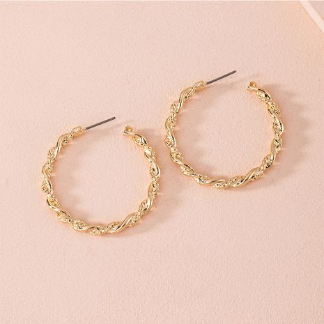 Korean new exaggerated twisted geometric round  alloy earrings wholesale NHAI252763's discount tags