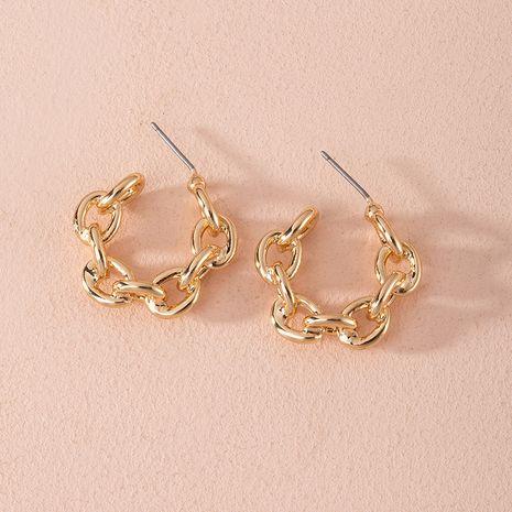 Mode nouvelle bague géométrique exagérée boucles d'oreilles en alliage imbriquées en gros NHAI252764's discount tags