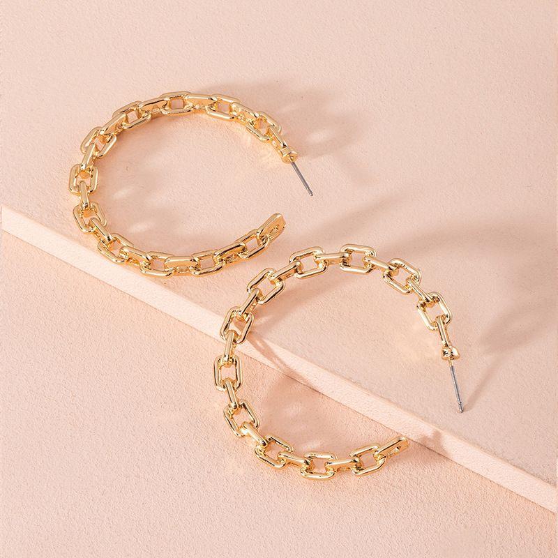 new fashion retro minimalist gold alloy earrings for women wholesale NHAI252765