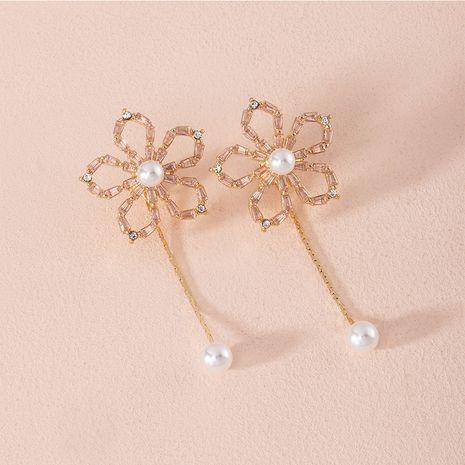 Corée perle naturelle nouvelles boucles d'oreilles en alliage de diamant rétro pour femmes NHAI252770's discount tags